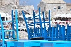 ristorante chiuso (eliobuscemi) Tags: sedie colori azzurro ristorante colors