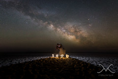 Kissing Under The Milky Way (Mike Ver Sprill - Milky Way Mike) Tags: kissing under milky way mike ver sprill michael versprill long exposure engagement shoot wedding photography photographer fine art night sky galaxy star stars beach beautiful strobe off camera flash light up numbers date astrophotography astronomy great amazing surreal dip kis kiss lovers lovely