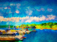 A sailing we will go. . . (boriches) Tags: boats marina lake tablerock missouri branson impressionism
