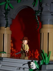 Temple of Doom - Poster (EliteTC) Tags: lego indianajones moc scene templeofdoom poster adventure movie