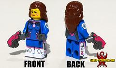 Mech Pilot Gamer Girl (Saber-Scorpion) Tags: lego minifig minifigures moc brickwarriors mecha dva overwatch blizzard diva gamer