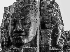 patrickrancoule-439 (Patrick RANCOULE) Tags: angkor angkorwat bouddha cambodge cambodia architecture bouddhisme noiretblanc sculptures temple visage
