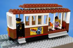LEGO Cable Car (Lesgo LEGO Foto!) Tags: lego minifig minifigs minifigure minifigures collectible collectable legophotography omg toy toys legography fun love cute coolminifig collectibleminifigures collectableminifigurecars carproject project moc creation myowncreation build cable car cablecar sanfrancisco sfcablecar rail