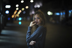 The Night (juriskokins) Tags: city urban urbanphotography cityscape citylights lights bokeh bokehlicios portrait portraits flirty night nikon d610 85mm f18 aperture contrast personality