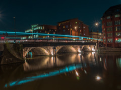 gone in 60 seconds (Wizard CG) Tags: bristol bridge england long exposure night shots ngc micro four thirds 43 m43 olympus mzuiko digital ed world trekker reflection water river outdoor dusk epl7 hdr architecture arch skyline