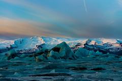 Blue Ice Dawn (Marshall Ward) Tags: jkulsrln iceland ice icebergs icebeach landscape winter dawn sunrise marshallward mwardphotographycom nikond800 afszoomnikkor2470mmf28ged
