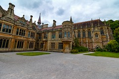 Tyntesfield chapel (21mapple) Tags: tyntesfieldchapel tyntesfield tyntesfieldhouse chapel church nationaltrust nt clouds cloudy lawn grass green trees victorian canon750d canon canoneos castle