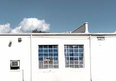 Windows  Blue (johnemount) Tags: industrial building windows blue sky cloud infrastructure minimalism whitewash white