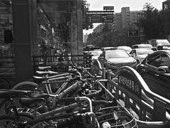 urban_1240062 (strange_hair) Tags: osamu kanemura blackwhite street korea seoul bycicle