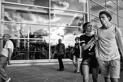 Staten Island Ferry Terminal (Pine Ear) Tags: gothamist nyc new york manhattan staten island ferry terminal couple bnw bw monochrome people candid street leica mp240 35mm f2 summicron