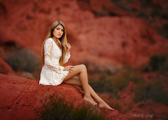 Red (Portraits by Suzy) Tags: red nature natural light desert valley fire portrait teen model woman color suzy mead portraits by 200mm canon nevada las vegas photographer lace beauty beautiful