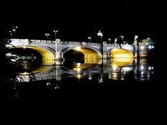 Ponte Umberto I - Torino (Alice Betta) Tags: turin river piedmont ponteumbertoi bridge italy saturdaynight parcodelvalentino po city piemonte torino night light landscape iphone6 surprise
