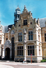 Belgium.  June 20th. 1999 (Cynthia of Harborough) Tags: 1999 architecture art arches entrances statues towers