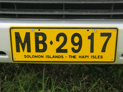 Local carplate!