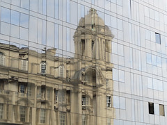 Building in Building (S John Davey) Tags: liverpool august 2016 waterfront building reflection window