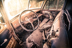 Old Truck Interior (Steve Muise) Tags: old truck interior rust debris sunlight dirt