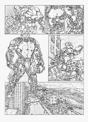 Comic Ryan page 9 (Lorkalt) Tags: antro antropomórfico anthropomorphic tiger kt street perspectiva cenário comic leolino lorkalt obyri nonaarte goiania desenhista sketchdrawing sketch