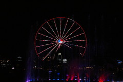 (trekkie313) Tags: tennessee ride ferriswheel lights night dark attraction summer colorful moonshine water wheel outdoor pigeonforge red white blue