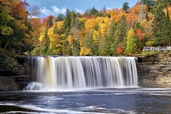 tahquamenon falls, luce county, michigan (twurdemann) Tags: 49768 autumn blur detailextractor ephemeral erosion fall2015 fallcolors fallcolours forest fujixt1 gorge hiawathanationalforest landscape leaves longexposure lucecounty michigan michiganstatepark nature nd106 neutraldensityfilter nikcolorefex northernmichigan october procontrast tahquamenonfalls tahquamenonriver tannin trees unitedstates upperpeninsula waterfall xf55200mm