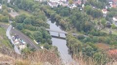 Blick vom Rotenfels auf die Friedensbrücke