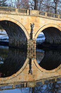 Bridge over the Derwent to Chatsworth House
