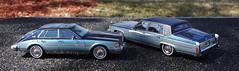 1980 Cadillac Fleetwood Brougham Sedan & 1981 Cadillac Seville Elegante Sedan (JCarnutz) Tags: seville cadillac 1981 1980 fleetwood