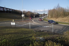 Accient on Reginald Mitchell Way/John Rhodes Way Roundabout - 31st March 2013 (Matt Burke) Tags: road way crash debris mitchell reginald rtc reginaldmitchelleway