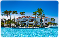 Parque Santiago III. Apartments. (CWhatPhotos) Tags: pictures blue parque trees santiago holiday hot color colour water colors pool canon that de lens photography eos la three los spain warm apartments colours foto play view apartment angle image artistic zoom pics wide picture sigma sunny playa pic images palm resort have photographs photograph fotos tenerife 111 1020mm 1020 which americas contain cristianos 450d cwhatphotos