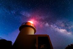 Interstellar Lighthouse (Yuga Kurita) Tags: sky lighthouse japan night stars star galaxy milkyway starscape 灯台 天の川 1424 銀河