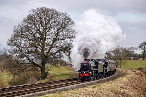 The Midlander (geoffspages) Tags: geotagged shropshire railway steam black5 45407 44871 allstretton geo:lat=52565995028994294 geo:lon=2784304618835449