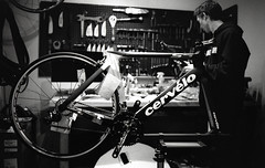 Cervelo S5 - Connor (Thomas O'Connell) Tags: road leica bike bicycle 35mm cycling stand fuji voigtlander 400 epson neopan v600 carbon pushed fiber 800 development m6 vim cervelo areo