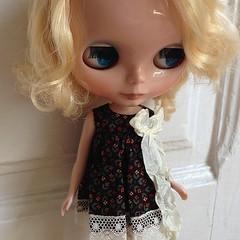 Alex in @dollywardrobe dress  #blythe #blythedoll #blythestagram #sweet #kawaii #cute #doll #toy #toystagram #toyrevolution #toyplanet #barcelona #kawaiiplanet #blytheconbarcelona