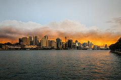 _ASC5633 (amblerpix) Tags: sunset horizontal reflections day dusk sydney australia newsouthwales balmain sydneyharbour stormclouds sparklingwater sunsetcolours sydneycityskyline