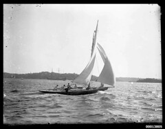 Yacht on Sydney Harbour (Australian National Maritime Museum on The Commons) Tags: sailing yacht sydney yachts sydneyharbour yachting sailingboat sailingvessel williamhall williamhallcollection williamjhallcollection