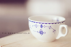 Blue and white teacup (Tia Benningfield) Tags: china blue white cup vintage treasure tea goodwill