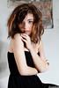 Martina Polopoli n.3 (Riccardo Mollo) Tags: black muro girl wall model dress nero ragazza collana modella vestito necklance