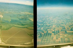 Patchwork (emibell) Tags: above film plane 35mm airplane landscape golden fly flying diptych europe fromabove half halfframe patchwork plasticcamera viewfromthetop 2010 halfandhalf airplaneshot splitframe upintheair colorfilm minicamera flyingshot superheadz incameradiptych goldenhalf thegoldenhalf emibell incamerasplit telepathyprint superheadztelepathygoldenhalf