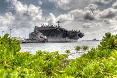 HDR of the USS John C. Stennis aircraft carrier (Julie Thurston) Tags: arizona usa tower water stairs plane john island harbor us dock cabin memorial mess ship head flag wwii flight navy jet americanflag hose helicopter deck crew american anchor hawaiian oil arizonamemorial pearlharbor pearl aircraftcarrier docked naval brass firehose uss radar prop flightdeck helo fittings messhall shipmate fordisland ussstennis shiphead womenshead shipstairs usaircraftcarrier