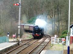 44871 THE GREAT BRITAIN VI - Dunkeld (scotrailm 63A) Tags: trains steam railways black5 44871