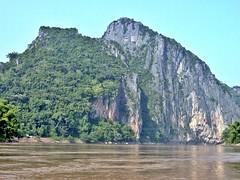 Mekong Near Pak Ou Caves (zorro1945) Tags: asia cliffs limestone asie laos lao mekong pakou limestonecliffs rivermekong