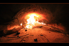 The expensive pic (LeWaggis) Tags: wood lens four fire pain oven rip fisheye goodbye holz feuer ofen feu bois samyang