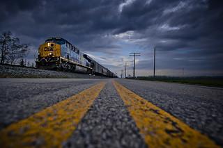 CSX Q635 in Prospect, Ohio
