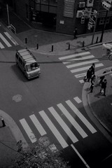 Apr. 24, 2013 (Kaz_Ngo) Tags: above street film japan intersection overhead rollei35