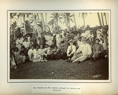 The Premier and Mrs. Seddon amongst the Natives and Cocoanuts. (Archives New Zealand) Tags: newzealand fiji pacific 1900 cookislands tonga 1893 niue seddon colonialoffice