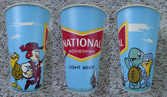 Vintage National Bohemian Wax Beer Cup (gregg_koenig) Tags: cup beer vintage cartoon bank can national 70s wax bo 1970s bohemian natty