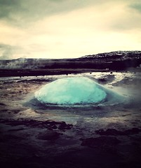 Geyser just before it erupts Iceland (inka.cresswell) Tags: uploaded:by=flickrmobile flickriosapp:filter=mammoth mammothfilter