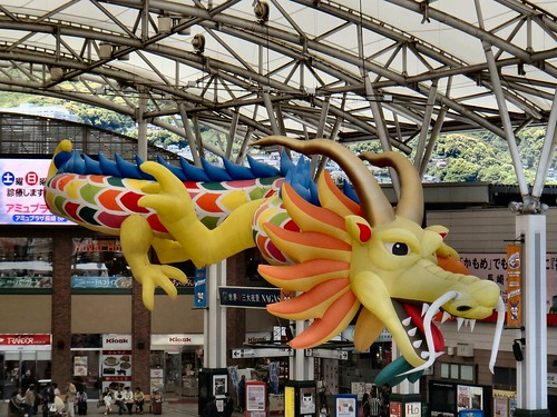 Festive Days. Dragon at the Central Railway Station, Nagasaki, Japan