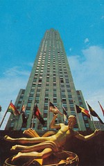 RCA Building - New York, New York (The Pie Shops Collection) Tags: plaza newyorkcity newyork building vintage postcard center rockefeller rca