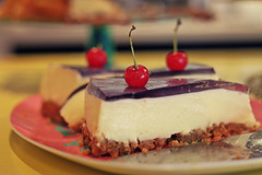 """""""Love is like a good cake; you never know when it's coming, but you'd better eat it when it does!"""" (stjernesol) Tags: cake cheese cherry sweet colourful thisisfrommyarchives thisissuchacolourfulcheesecake makesmehappyjusttolookat andwouldbeevenbettereatingit wishyouasweetweekend iwillbeworkingmyoff"""