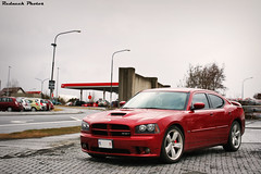 Modern Muscle (Redneck Photos) Tags: auto red car muscle american vehicle dodge parked spotted mopar charger srt srt8 worldcars